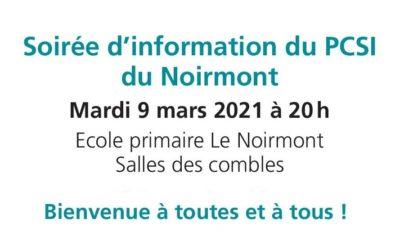 Séance d'information – PCSI Le Noirmont